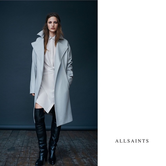 878c47760 Black Allsaints Wrap Coat XS